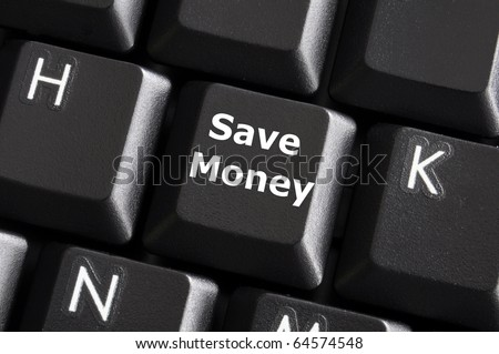 save money for investment concept with a button on computer keyboard - stock photo