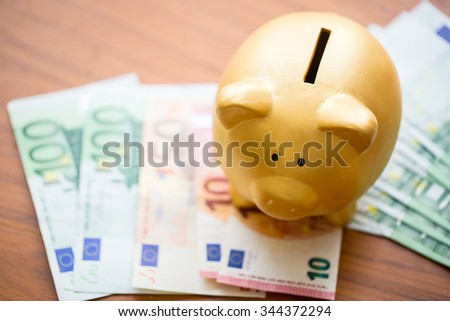 Save Money  piggy bank for prepare in the future. - stock photo