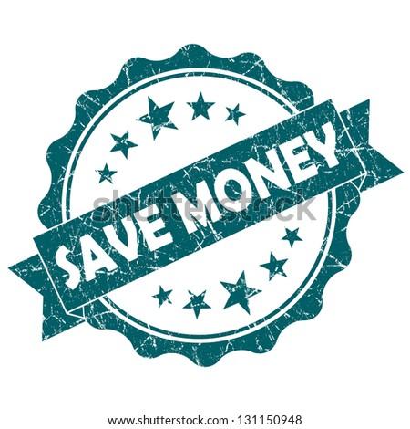 save money stamp - stock photo