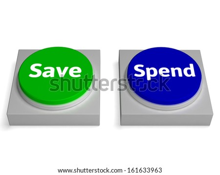 Save Spend Buttons Showing Saving Or Spending