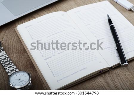 Save the date - agenda mockup - stock photo