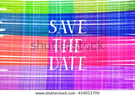 Save the date card. For web and mobile icon isolated on background, art template, retro elements, logo, identity, labels, badge, tag, card. Raster version - stock photo