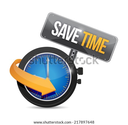 save time watch concept illustration design over a white background - stock photo