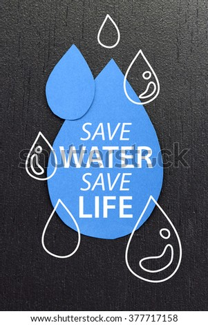 Save water concept - stock photo