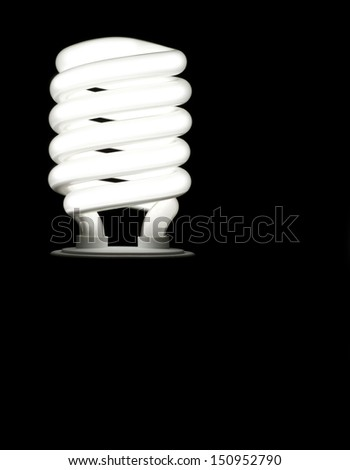 Saving energy bulb - stock photo