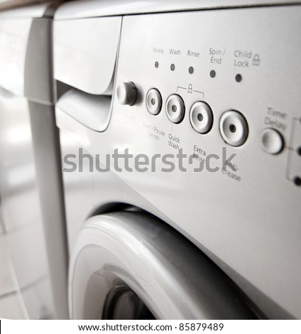 Saving energy with a quick wash - stock photo