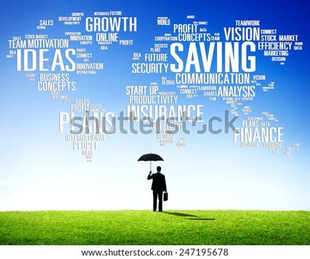Saving Finance Global Finance World Economy Concept - stock photo
