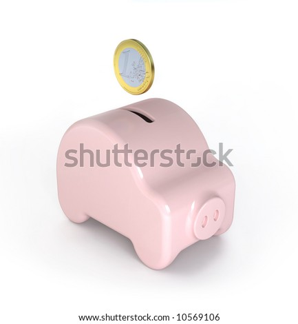 Saving for a car (Piggy) - variations of this concept in my portfolio - stock photo