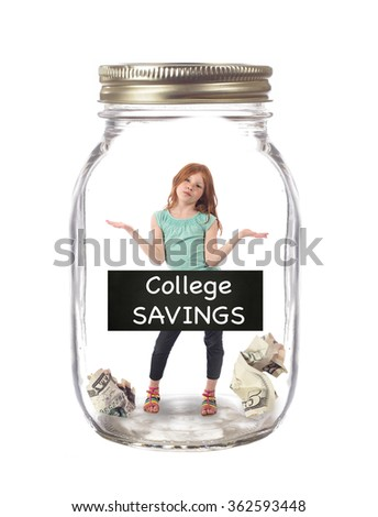 Saving for college - stock photo