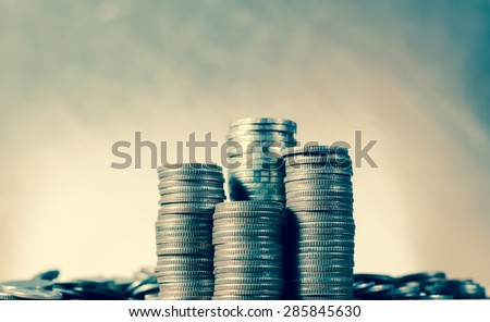Saving money concept,Money coin stack for business growing concept - stock photo