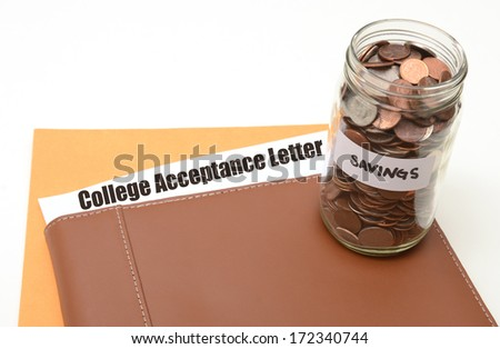 saving money for college or university concept - stock photo