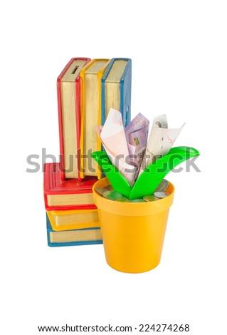 Saving money for education - stock photo