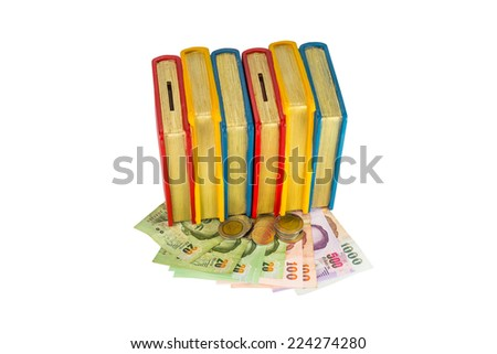 Saving money for education - stock photo