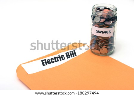 saving money on electric or energy costs concept - stock photo