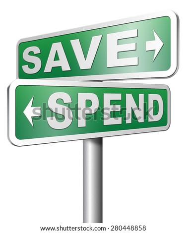 Saving plan bank deposit spend or save money - stock photo