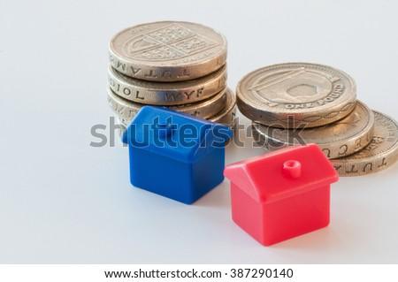 Saving to buy a house - stock photo