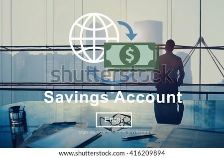 Savings Account Profit Money Concept  - stock photo