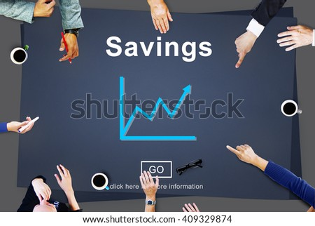 Savings Budget Assets Finance Income Money Concept - stock photo