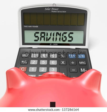 Savings Calculator Showing Wealth Investment In Capital And Cash