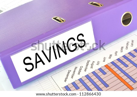 SAVINGS  folder on a market report