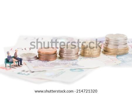 Savings for retirement  - stock photo