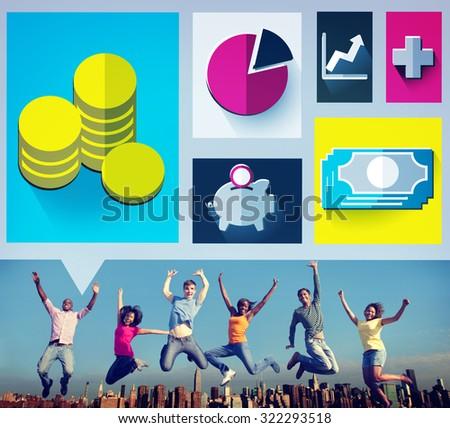 Savings Money Financial Budget Cash Banking Concept - stock photo