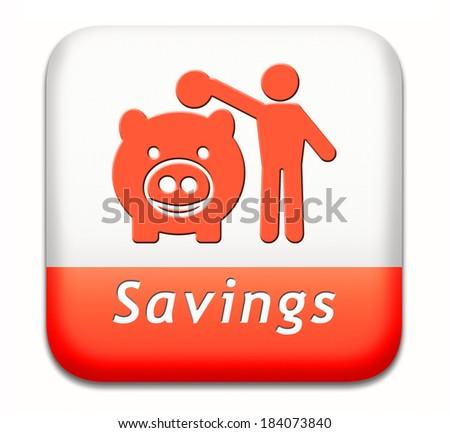 savings money saving in piggy bank deposit account with plan to save cash online banking - stock photo