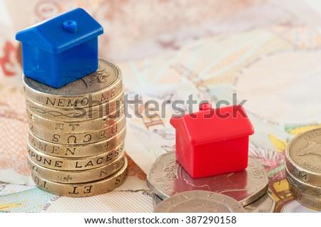 Savings to buy a house - stock photo