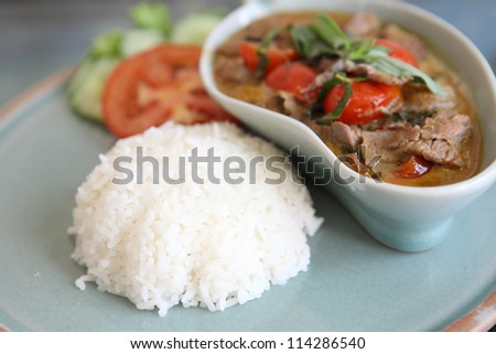 savory curry with beef