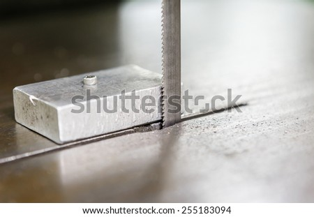saw for cutting aluminum - stock photo