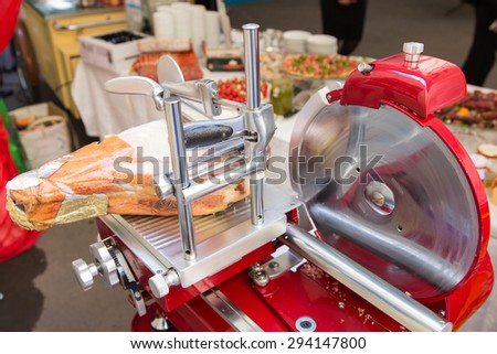 Saw for meat - stock photo