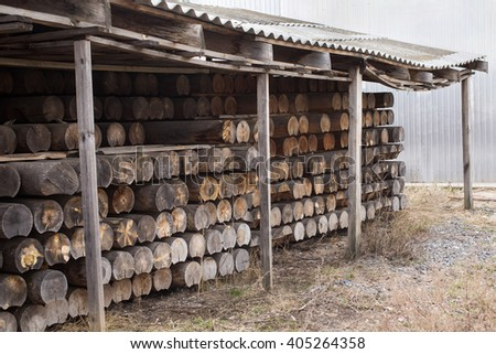 sawmill, wood processing, timber drying, timber harvesting, drying boards, baulk, hydrothermal treatment of wood  - stock photo