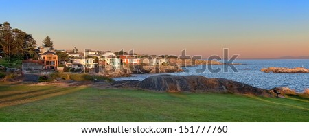 Saxe Point Park, Esquimalt near Victoria, British Columbia, Canada - stock photo
