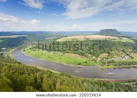Saxony - Germany - Koenigstein - stock photo