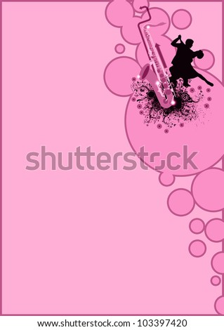 saxophone dance background with space (poster, web, leaflet, magazine) - stock photo