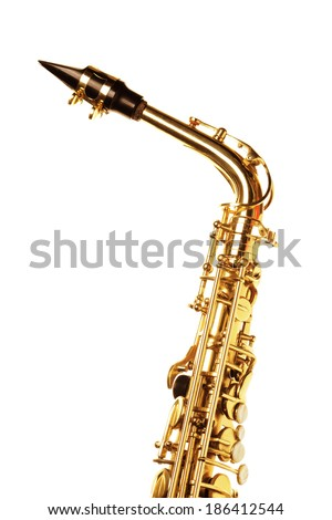 Saxophone isolated on white background
