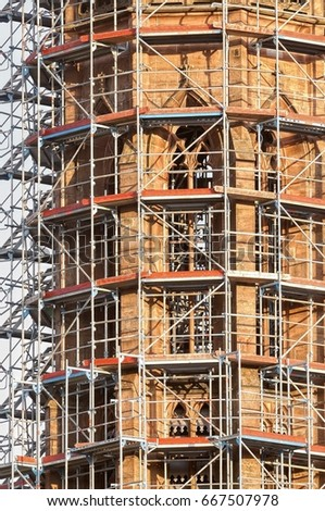 Scaffolding stock images royalty free images vectors - Exterior scaffolding rental near me ...