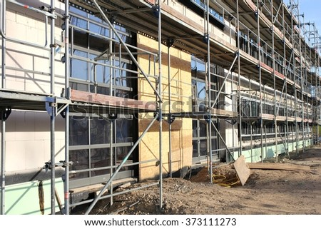 scaffolding at building currently under construction