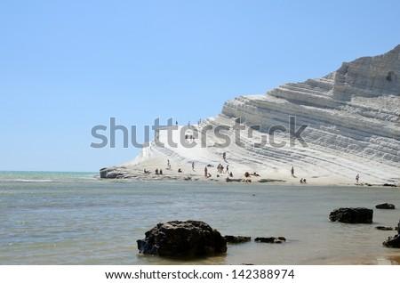 Scala dei turchi, Sicily, Italy - stock photo