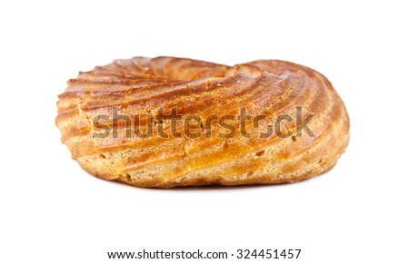 scalded cake in form bagel on a white background