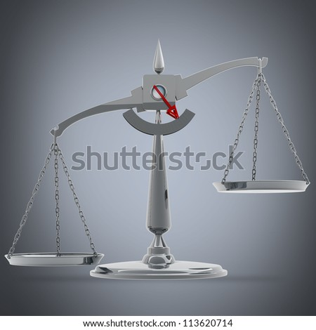 Scale High resolution 3d render - stock photo