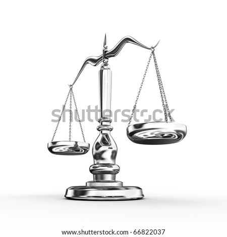 Scale isolated on white background - stock photo