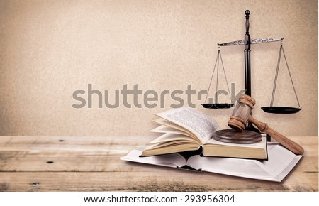 Scale, law, lawyer. - stock photo