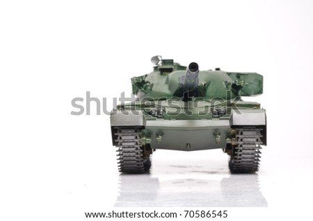 Scale model of  Great britain tank. focused on turret