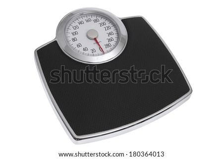 Scale on white background