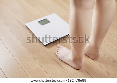 Scale / Weighing machine - stock photo