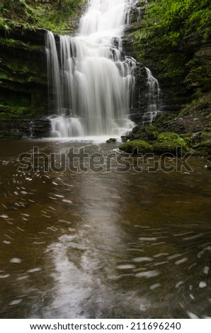 Scaleber Foss waterfall in the Yorkshire Dales