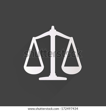 Scales balance icon - stock photo