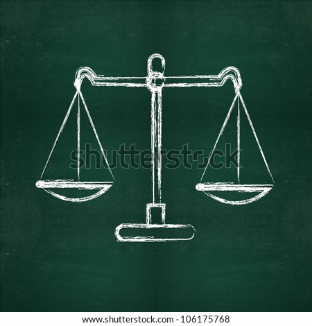 Scales drawing - stock photo