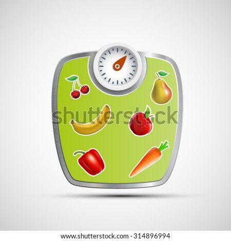 Scales for weighing. Stock image. - stock photo